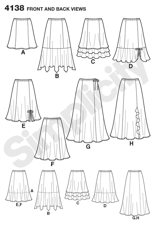 Easy, cute, skirts | faldas | Pinterest | Falda, Patrones faciles y ...