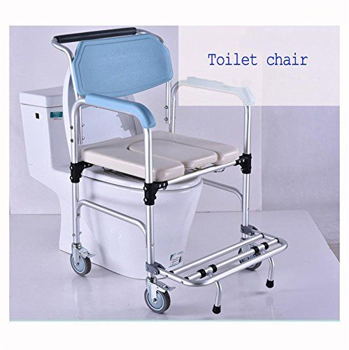 Wheeled Commode Lightweight Wheeled Shower Commode Chair With