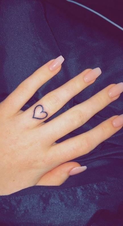 Photo of Tattoo cute heart ring finger 34 ideas