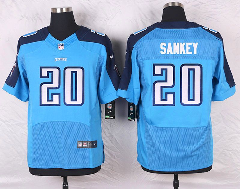 Discount Light Blue Bishop Sankey Elite Tennessee Titans #20 Home NFL Jersey  hot sale