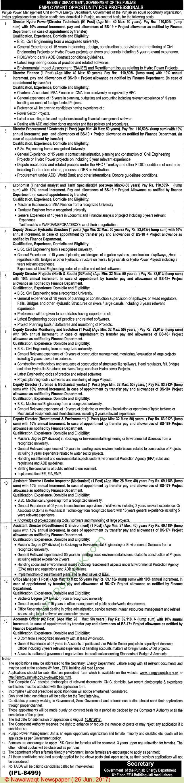 Energy Department Lahore Jobs  Jobs In Pakistan