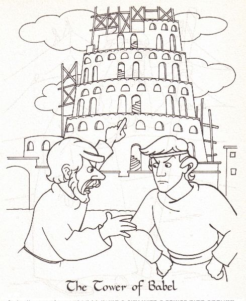 1)Tower of Babel Coloring Page - Denise Oliveri 2) Raamatun maailmaa ...