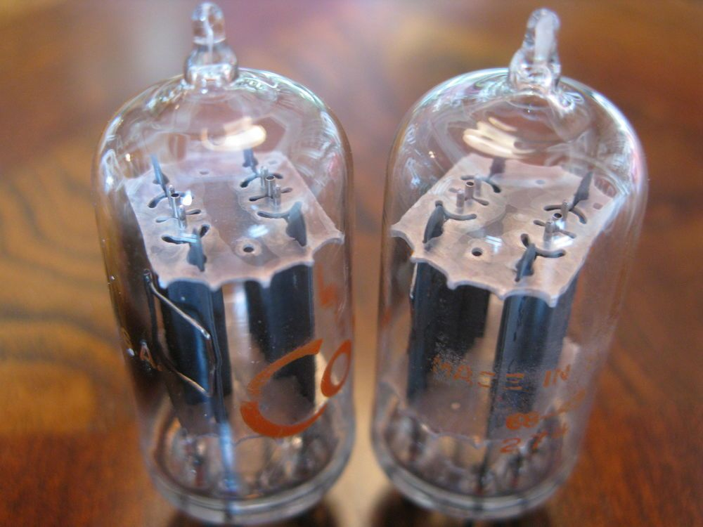 1968 Rca Conn Clear Top Like New Matched Pair Best Sounding Us 12au7 A Ecc82 Rca Rca Tube Ebay