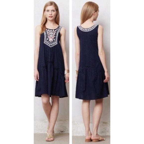 c35fb0f2a067 Anthropologie Dresses & Skirts - Anthropologie Maeve Embroidered Floral  Dress