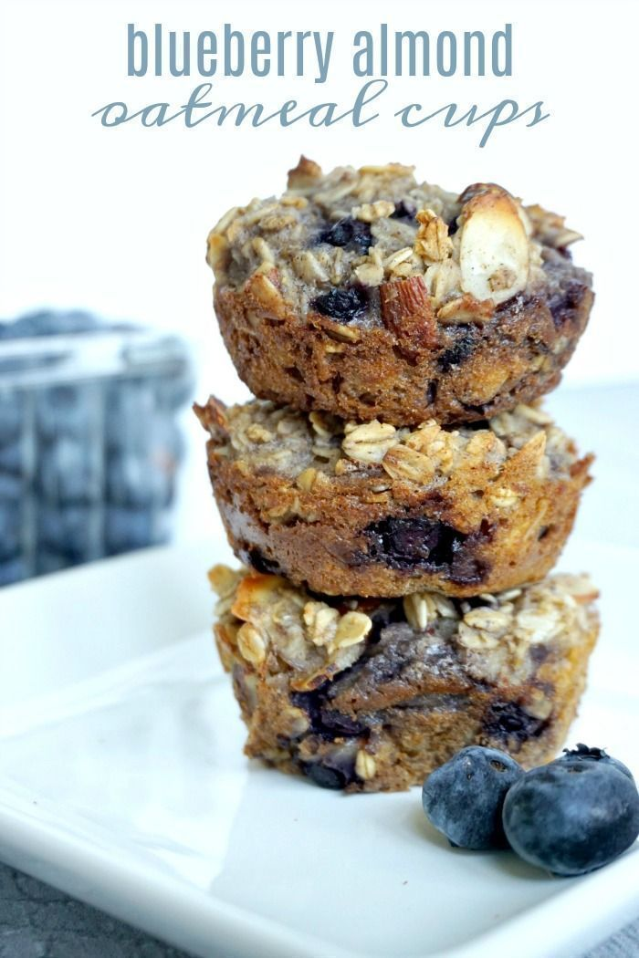 Blueberry Almond Oatmeal Cups images