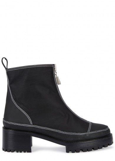cb03a8b04e1 Chris black nylon ankle boots