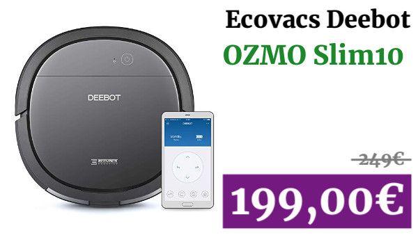 Ecovacs Deebot Ozmo Slim10 Robot Aspirador 4 En 1 Barre Aspira