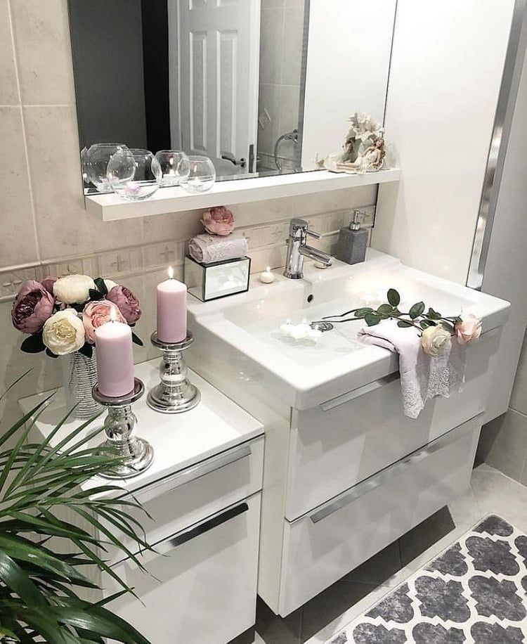 Discovered By Fairydust Find Images And Videos About Home Interior And Decor On We Heart It The App To G Restroom Decor Bathroom Decor Bathroom Inspiration