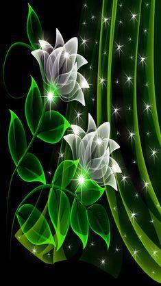 Neon Flowers wallpaper by _MARIKA_ - b7aa - Free on ZEDGE™