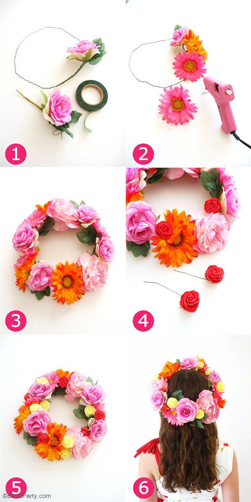 Diy Pretty Easy Flower Crowns Flower Headband Diy Diy Flower Crown Diy Headband