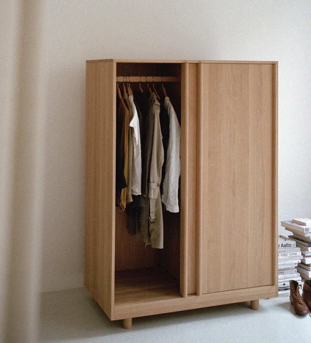 High Quality Freestanding Wardrobe Entirely Built From Solid Oak In Stock Both In Natural Oak And Forest Sliding Wardrobe Doors Furniture Wardrobe Furniture