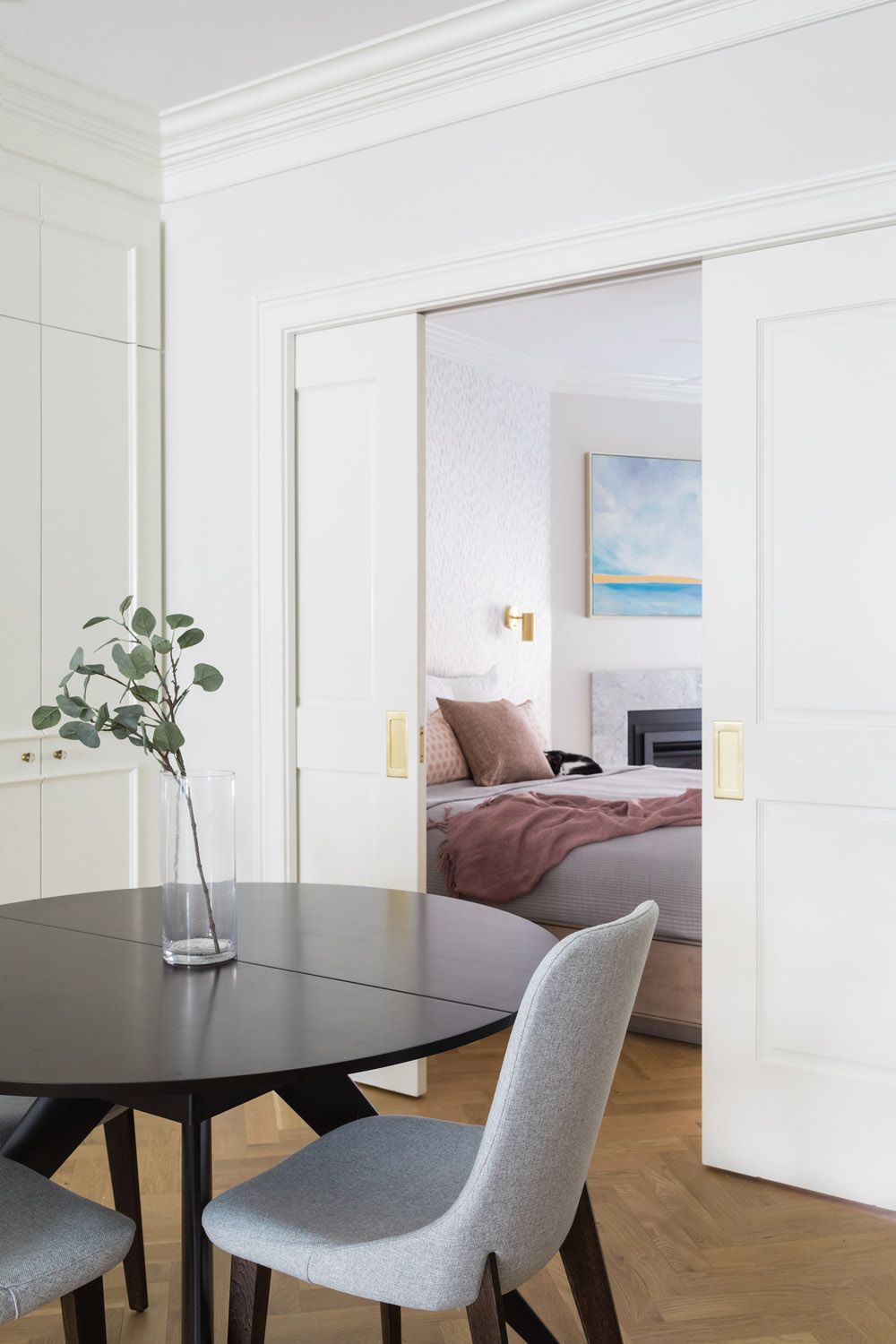 A PiedàTerre in the Greater Boston Area Pocket doors