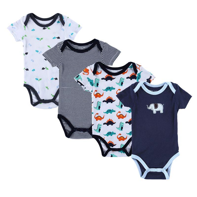 e71d8ce95d Barato Camiseta bebê recém nascido roupas Corpo Bebe manga curta bodysuites  Verão Carters infantil Macacão Menina 4PCS Próxima roupa do bebê