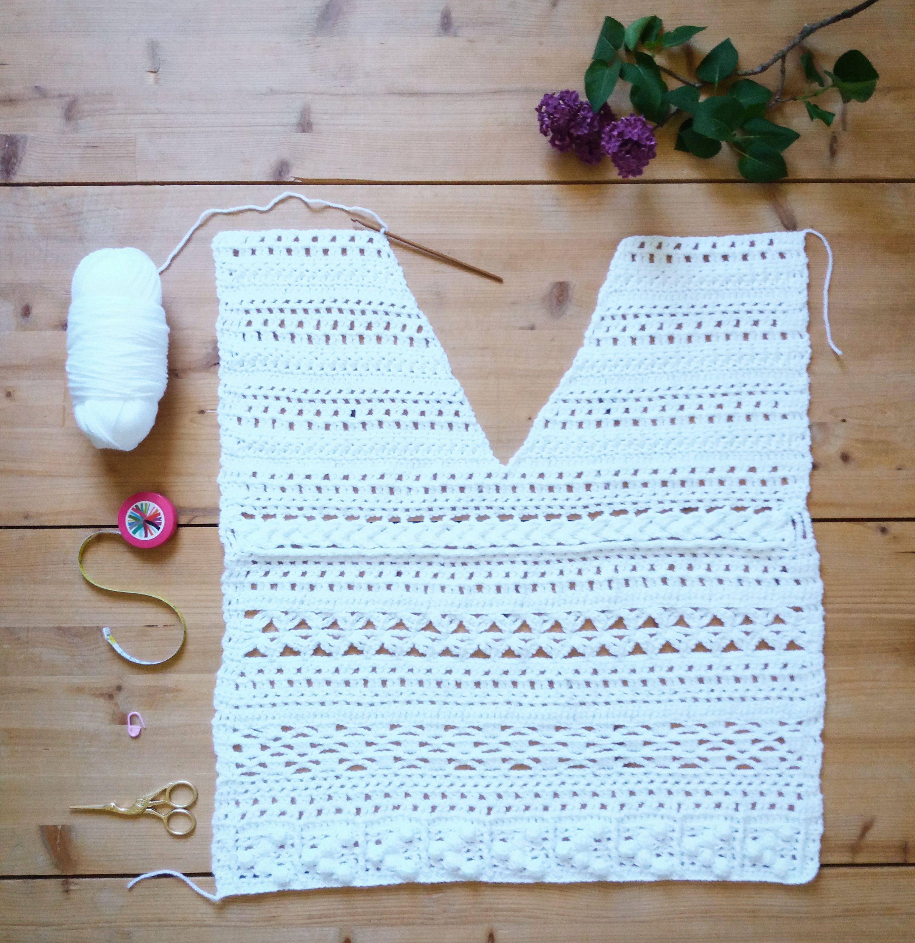 Idée Création Haut au Crochet  Crochet Top Design Idea Idée Création Haut au Crochet  Crochet Top Design Idea