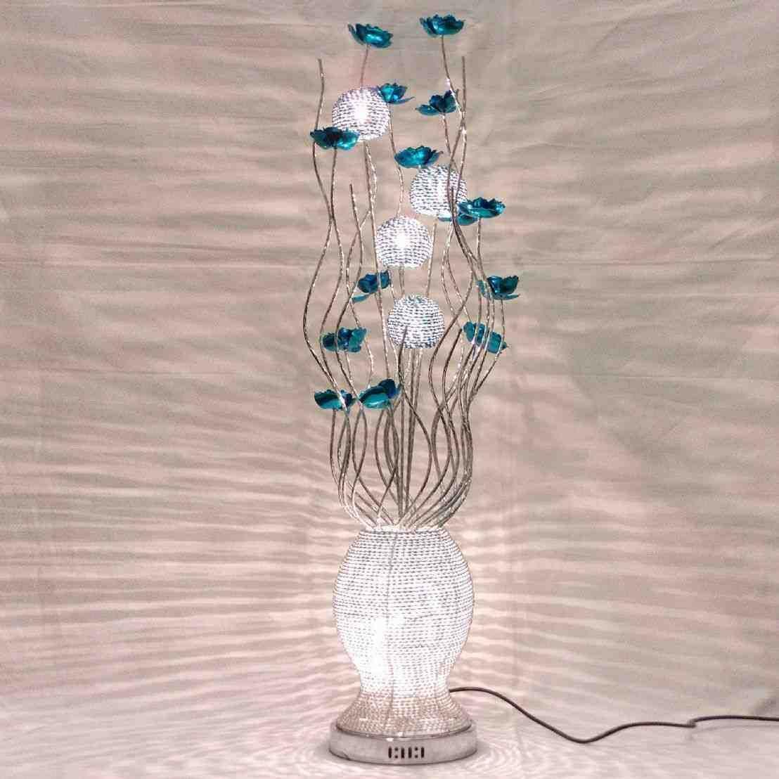 Metal Flower Floor Lamp Silver Floor Lamp Modern Floor Lamps