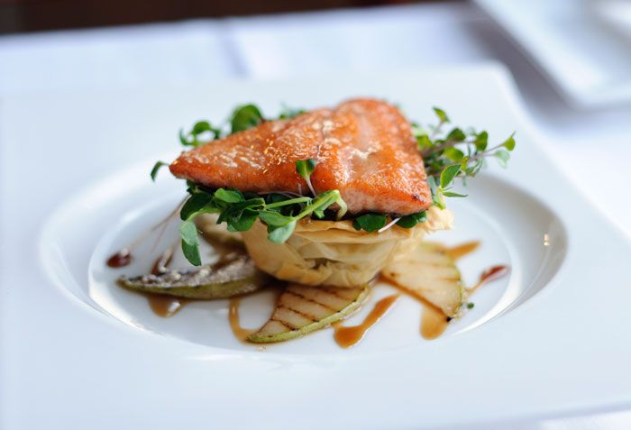 What is gourmet food salmon dining and fine dining for Fine dining gourmet recipes