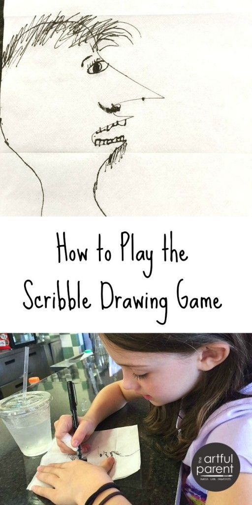 The Scribble Drawing Game | Drawing games, Fun drawings and Drawing ...