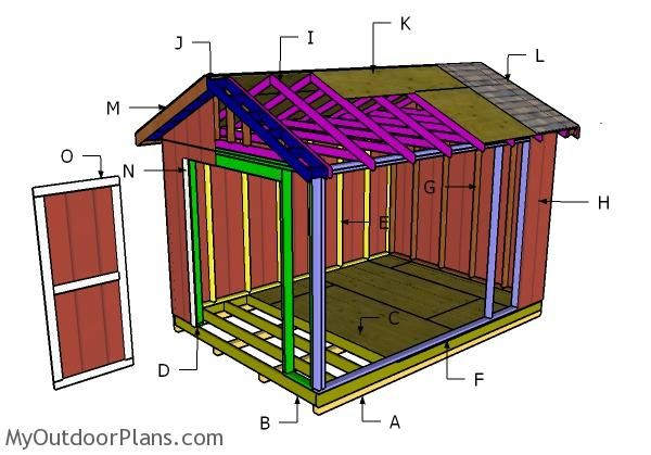 10 14 Shed Plans In 2020 Shed Plans Shed Diy Shed
