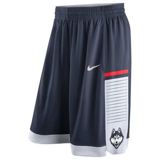 watch 88509 9076a Nike UConn Huskies Navy Authentic On-Court Performance Basketball Shorts