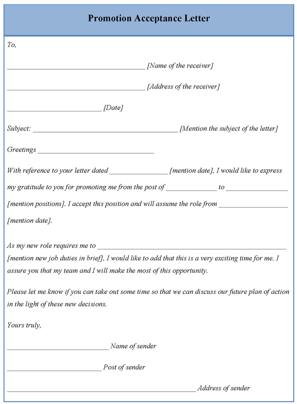 promotion acceptance letter template editable docs resume examples word document best sample for bankers registered nurse format
