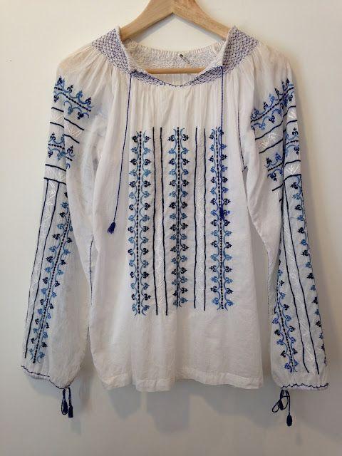 高円寺 古着・ヴィンテージ店 Samaki インドコットン刺繍ブラウス India Cotton