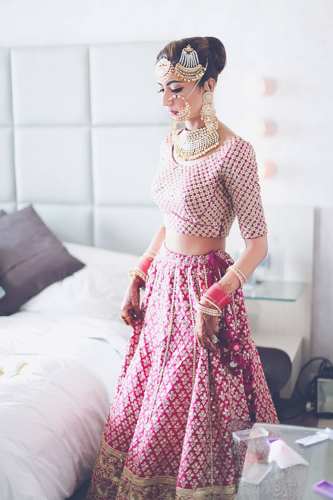 Pink Winter Delhi Wedding With a Touch of Elegance!   Ropa