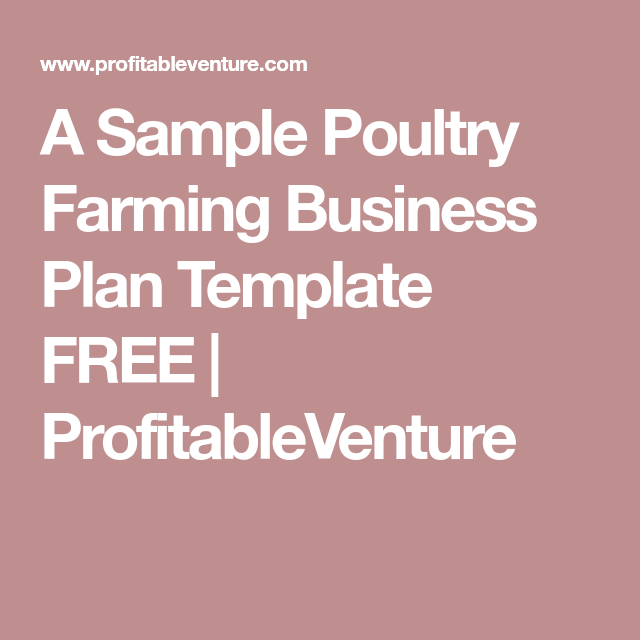 A sample poultry farming business plan template free poultry a sample poultry farming business plan flashek Images