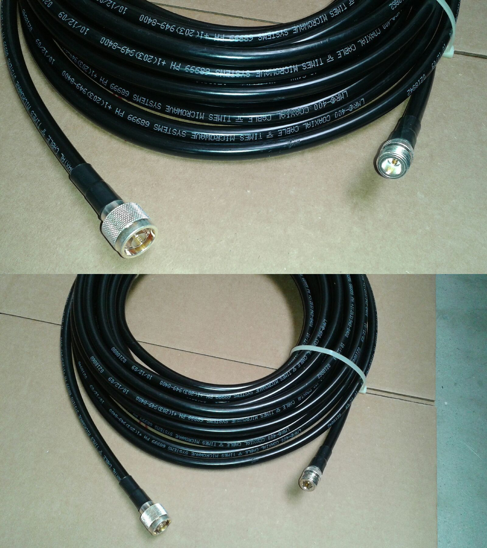 23 ft LMR400 Times Microwave 50 Ohm Antenna Coax Cable PL259 Male PL259 Male