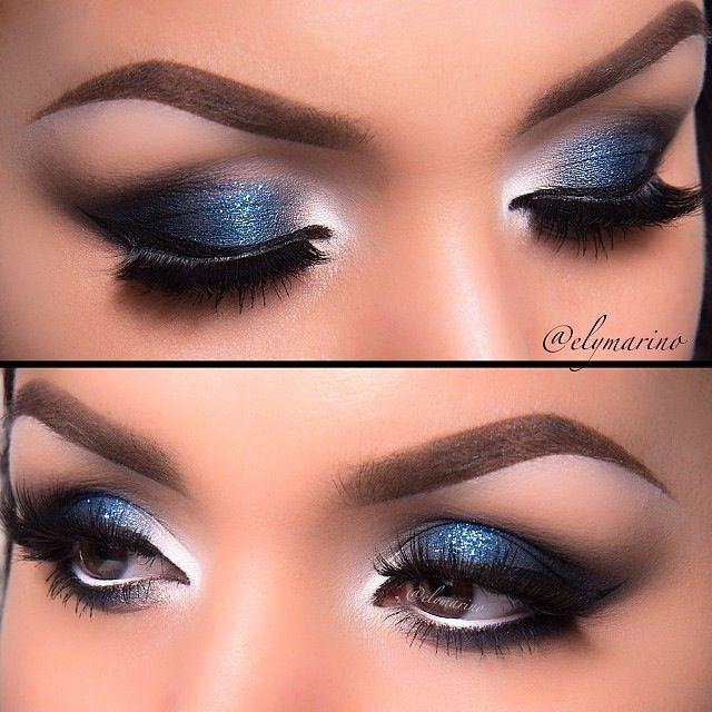 Maquillaje para boda vestido azul