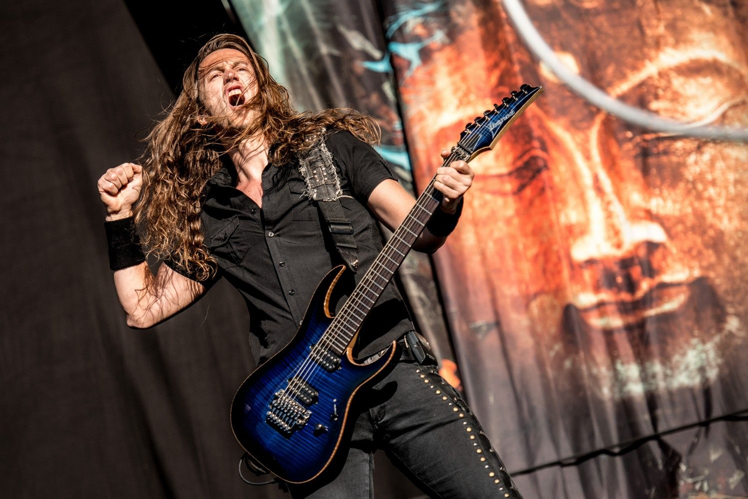 Epica - Mark Jansen - Photo by Jimmy Israel - FortaRock 2015 Holland