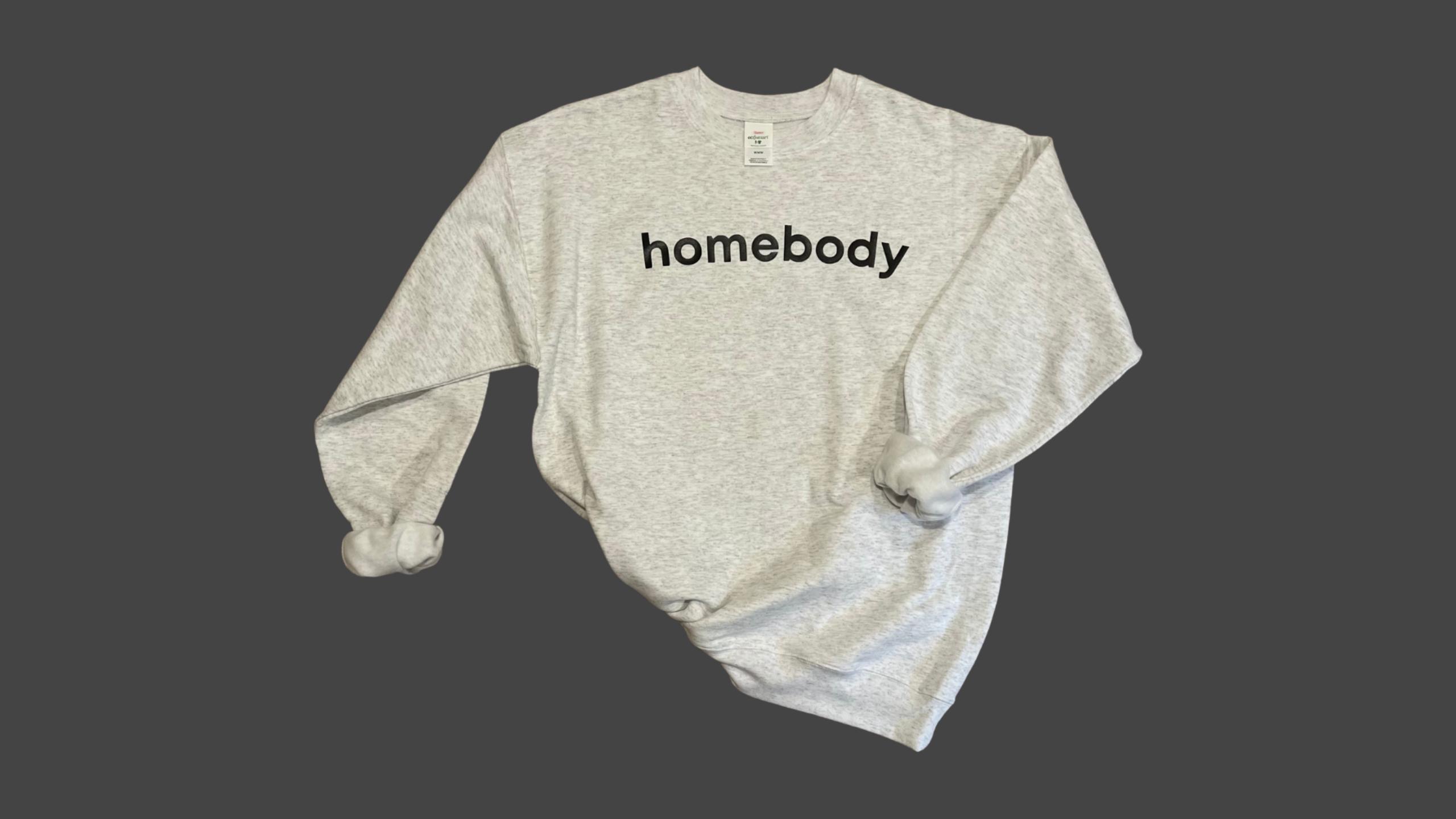 Homebody Sweatshirt - Ash Grey / White / S
