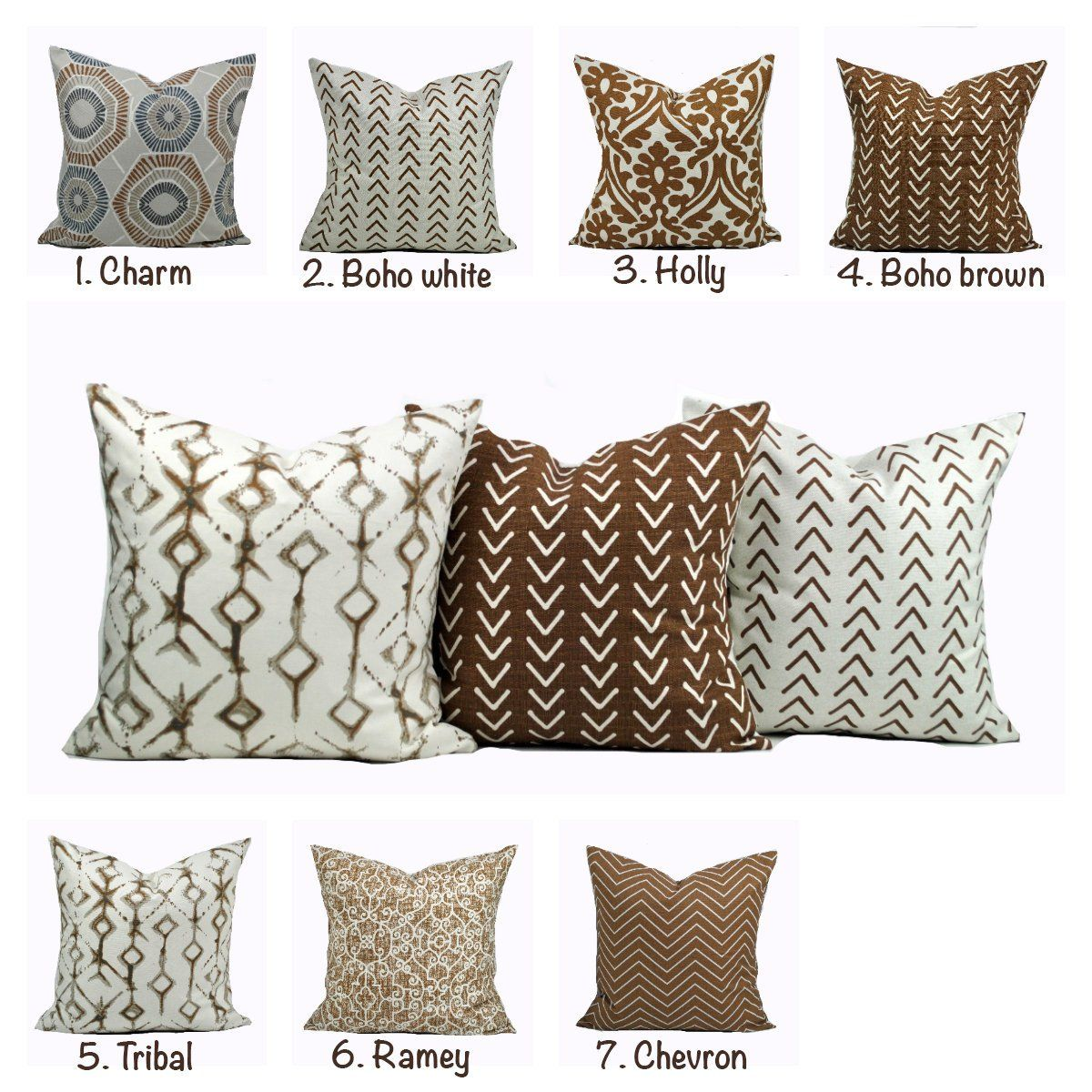 One Caramel Brown Home Decor Cover