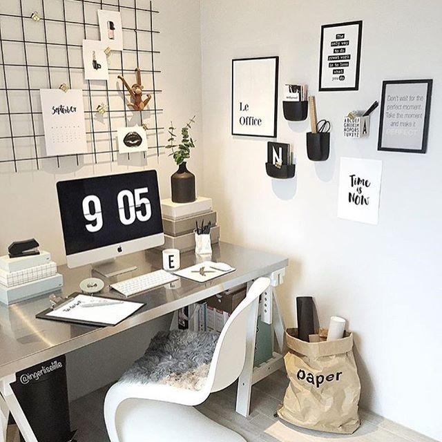 Home Office Digger Kontoret Til Aesthetic Room Decor