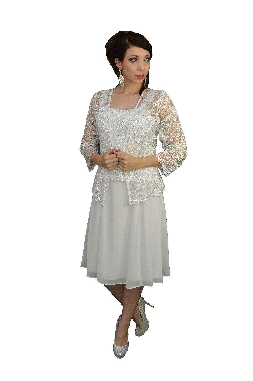 Plus size jacket dress for wedding  Short Mother of the Bride Dress with Jacket   Bride dresses