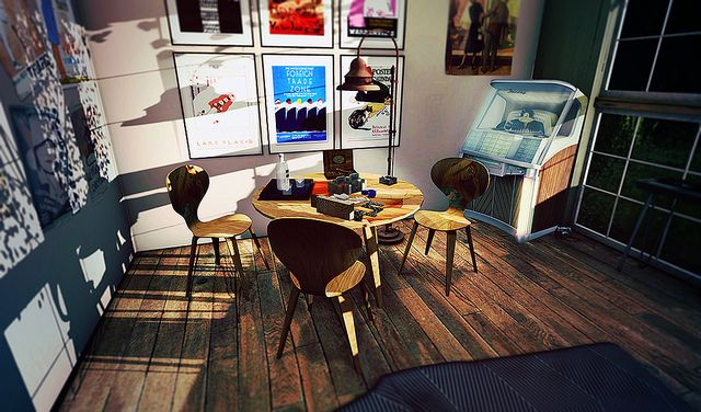 Second Life Interior Decor Scene Featuring Meshworx Second Spaces