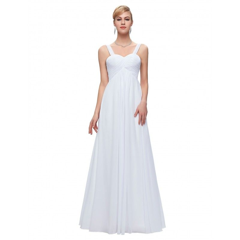 Biele spoločenské šaty CL3466  af06bfc14fe