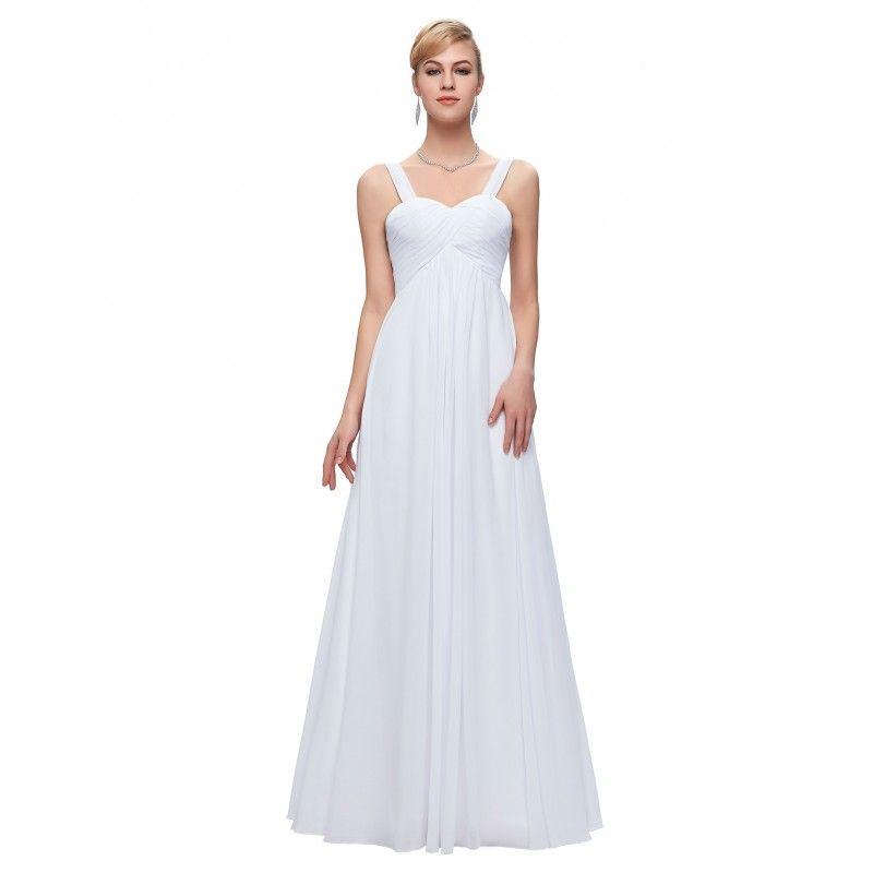 Biele spoločenské šaty CL3466  c8f08850efb