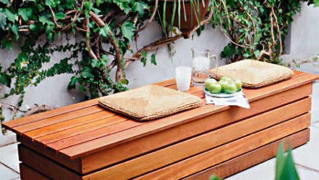 This Diy Garden Or Courtyard Bench Seat Provides Hidden Storage