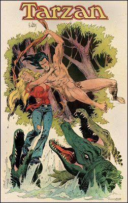 Jungle Drama With Images Tarzan Joe Kubert Comic Book Artists