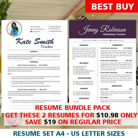 Resume Bundle Pack  Instant Digital Download  Mac  Pc  Cover
