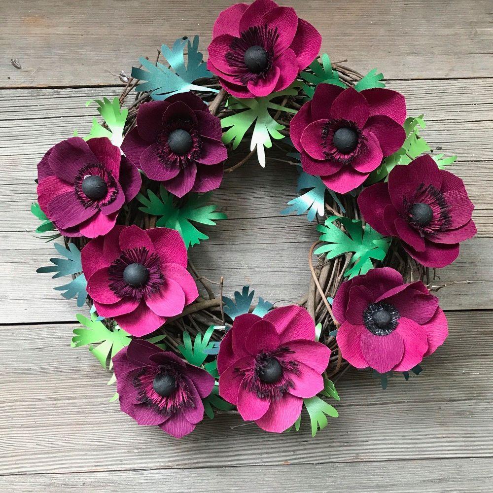 Diy crepe paper anemone wreath anemone flower wreaths and crepe paper diy crepe paper anemone wreath mightylinksfo Gallery
