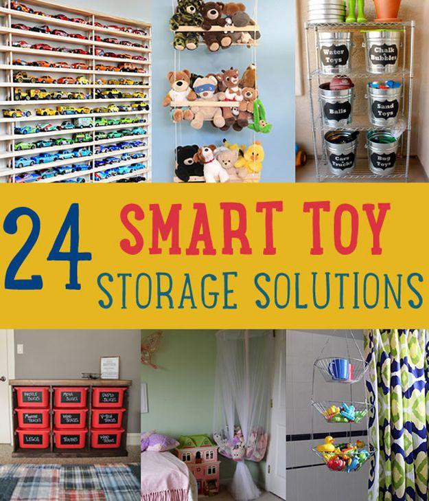 24 Smart Toy Storage Solutions By DIY Ready At Www.diyready.com/storage