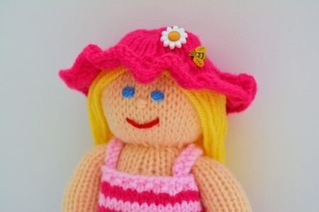 Petunia A Summer Doll Knitting Pattern Petunias Beginner Knitting