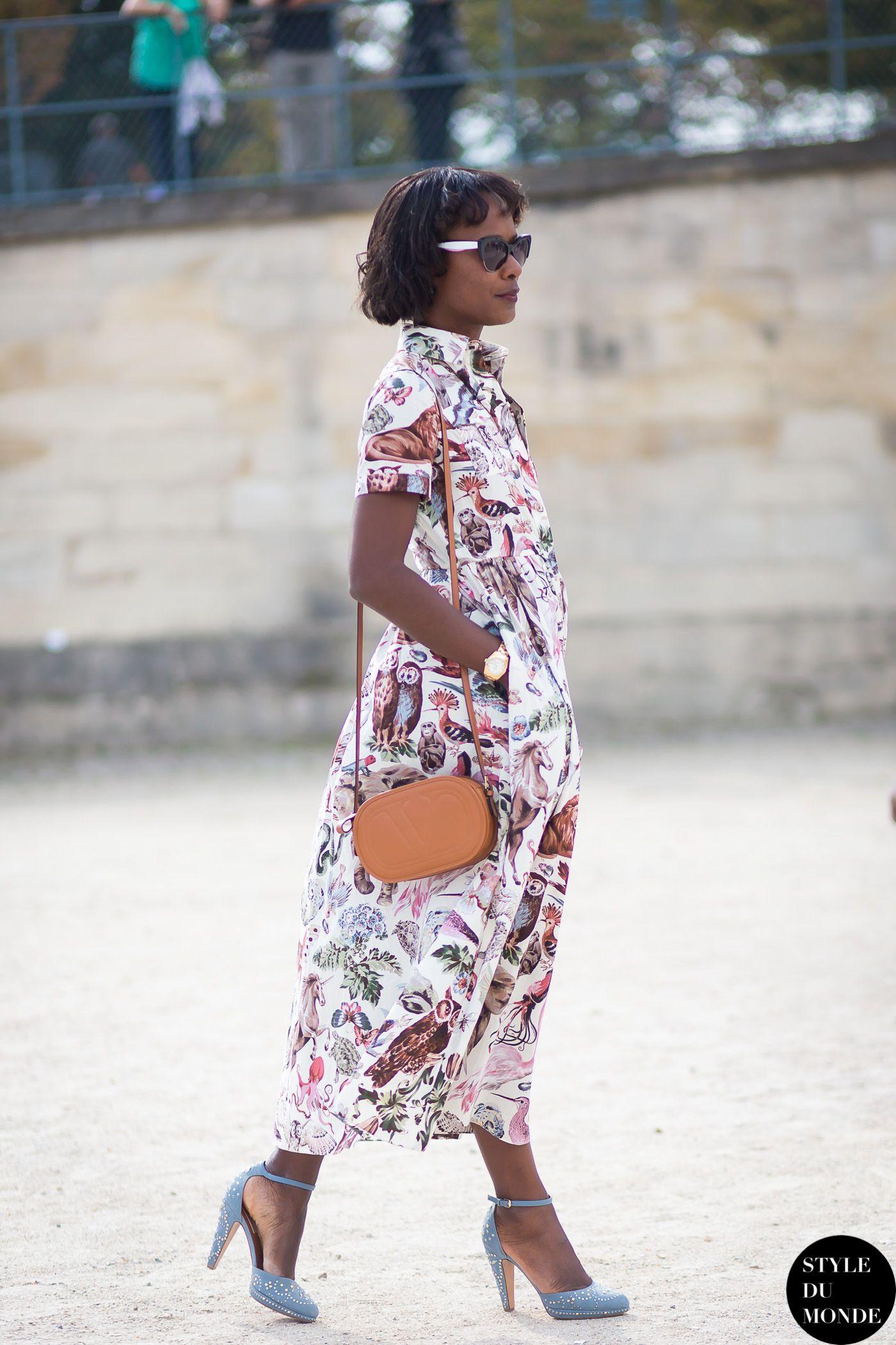 Paris FW SS15 Street Style: Shala Monroque - STYLE DU