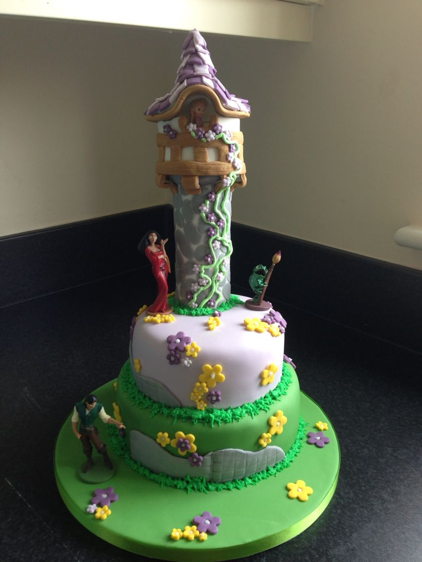Rapunzel birthday cake Lilly Loves Cakes Pinterest Rapunzel