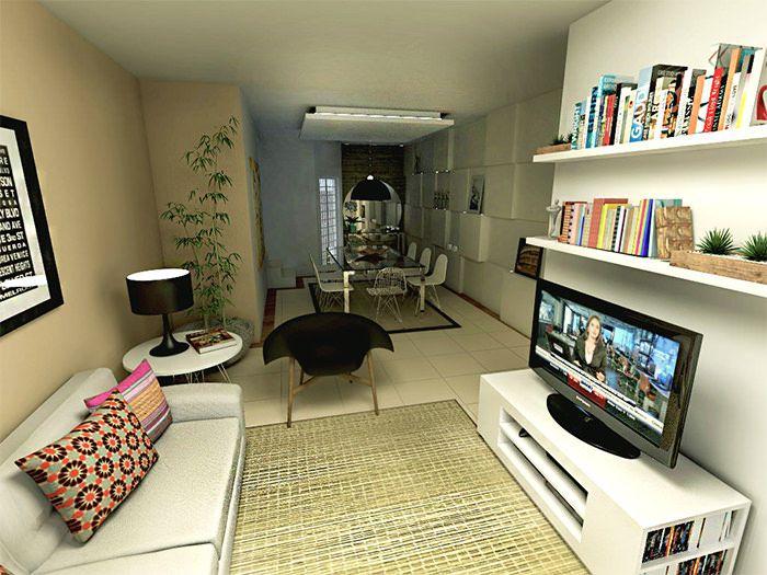 Como decorar sala comprida como decorar uma sala salas for Como decorar sala grande