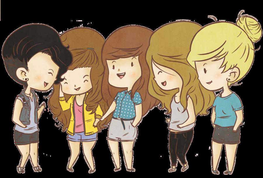 Три девицы и один парень мультик