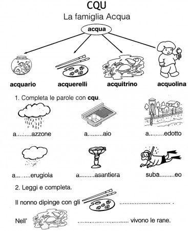 Scheda Cqu Famiglia Acqua Cl Prima Schede Didattiche Learning