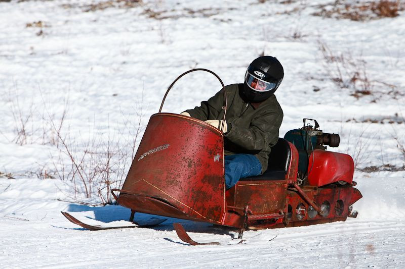 Vintage Snowmobile Show and Hill Climb over at Moose