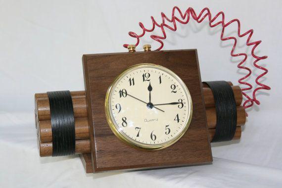 Novelty Time Bomb Clock By Gbtrains On Etsy 67 00 Clock Diy Clock Wooden Clock